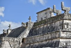 Top del templo de guerreros Imagen de archivo libre de regalías