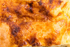 Top of delicious baked pie. Stock Photos