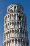 Top detail of Leaning tower of Pisa, Italy Royalty Free Stock Photos