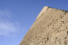 Top detail of the pyramid of Chephren Stock Images