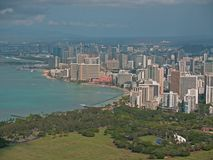 Top of Diamond head Volcano in Hawaii Royalty Free Stock Photography