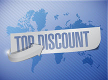 Top discount message sign illustration design Stock Image