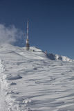 Top Of Dobratsch Transmitter Tower In Winter Stock Images