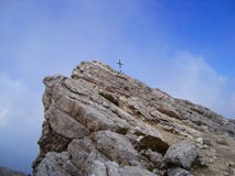 The Top of Dolomites. The top of a steep mountain in Tirol, Alto Adige, Dolomites Royalty Free Stock Image