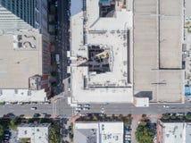 Top down Hommel nog van daken in de Stad van Raleigh, NC Royalty-vrije Stock Fotografie