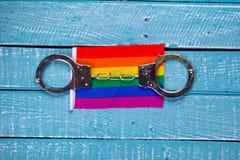 Top down photo of Gay Pride concept royalty free stock photos