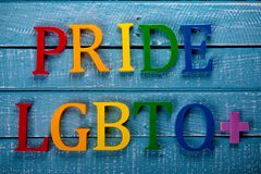 Top down photo of Gay Pride concept stock image