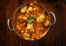 Top down photo of indian curry Stock Photos
