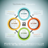 Top Down Ring Infographic Royalty Free Stock Photography