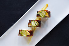 Top Down Shot of Sushi on Plate Royalty Free Stock Photo