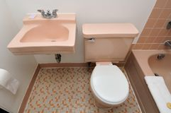 Top down of toilet and basin Stock Photos