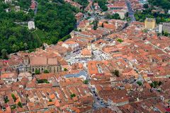 Top Down View of Brasov royalty free stock photo