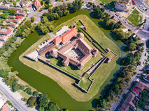 Top down view of Fagaras Fortress in Transylvania, Romania. In Transylvania, Romania Royalty Free Stock Photo