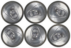 Top Down View of a Six Can Pack Stock Images