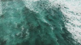 Top down view of the turquoise water of the Atlantic Ocean. 2k stock video