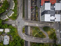 Top Down View Wellington Highway City Aerial stock photo