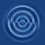 Top down water ripple Royalty Free Stock Image