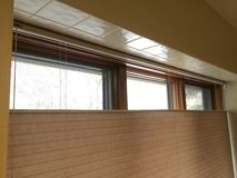 Top-down window shades Royalty Free Stock Photography