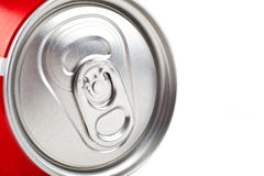 Top of a Drinks Can. Over a white background Royalty Free Stock Photo
