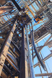 Top Drive System (TDS) and Drill Pipe for Drilling Rig Stock Photography
