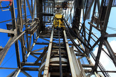 Top Drive System (TDS) Spinning for Oil Drilling Rig Royalty Free Stock Images