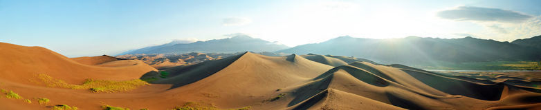 On top of Dunes. Early morning in the sand dunes stock photography