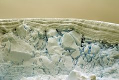 Top edge of an iceberg in Antarctica stock images