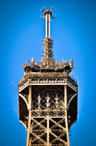 Top of Eiffel Tower, Paris, France Stock Image