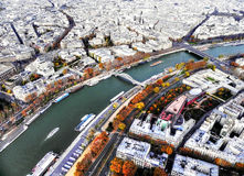 On top of the Eiffiel Tower Royalty Free Stock Photo