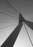 Top of the Erasmusbrug in Rotterdam. The Erasmusbrug in Rotterdam is a beauityfull piece of architecture. This is de top of the bridge Stock Photography