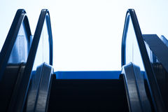 Top of an escalator Royalty Free Stock Image