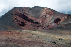 At the top of Etna Volcano Stock Photography