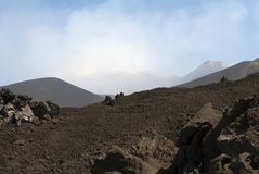 Top of the Etna volcano  in Sicily Royalty Free Stock Photography