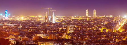 Evening kind of Barcelona with landmarks Stock Image