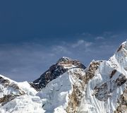 Top of everest from way to everest base camp Royalty Free Stock Photos