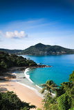 Top eye view of Phuket beach Stock Photo
