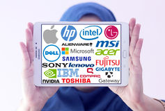 Top famous computer (PC) brands Stock Photography