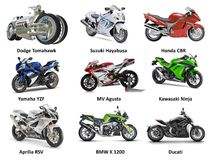 Top Fastest Motorcycles Stock Photography