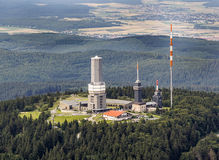 Top of Feldberg in Hesse with tv tower Royalty Free Stock Photos