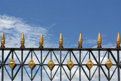 Top of fence Royalty Free Stock Photo