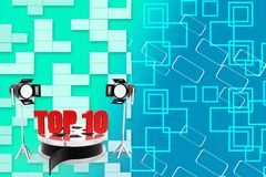 Top 10 Filmy concept Illustration Royalty Free Stock Images