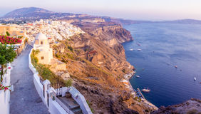 On the top of Fira Stock Photo
