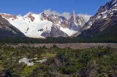Top of Fitz Roy in the snow Royalty Free Stock Images