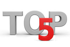Top five. Computer generated image Stock Photo
