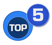 Top Five Blue Circles Royalty Free Stock Photography