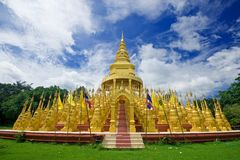 Top five hundred pagodas at beautiful in the Wat p Stock Images