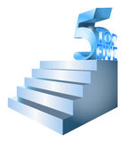 Top Five Ranking Rating Stairs Illustration stock image