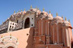 Top floor of Hawa Mahal Palace in Jaipur,Rajasthan,India,unesco stock images