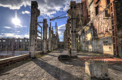 Top floor of unfinished reactors 5&6 (HDR) Royalty Free Stock Images