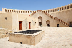 Top of fort Nizwa Royalty Free Stock Photography